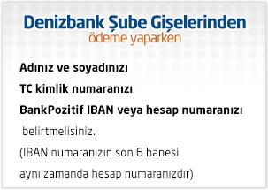 denizbank ödeme
